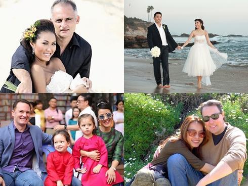 Người đẹp Việt và cuộc tình kẻ khóc người cười với chồng Tây
