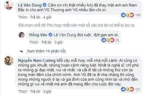 Sự thật việc Cát Phượng thả icon mặt cười dưới status mà NSND Hồng Vân chia sẻ về Anh Vũ-4