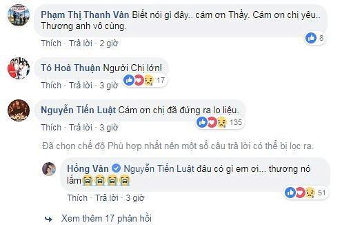 Sự thật việc Cát Phượng thả icon mặt cười dưới status mà NSND Hồng Vân chia sẻ về Anh Vũ-5