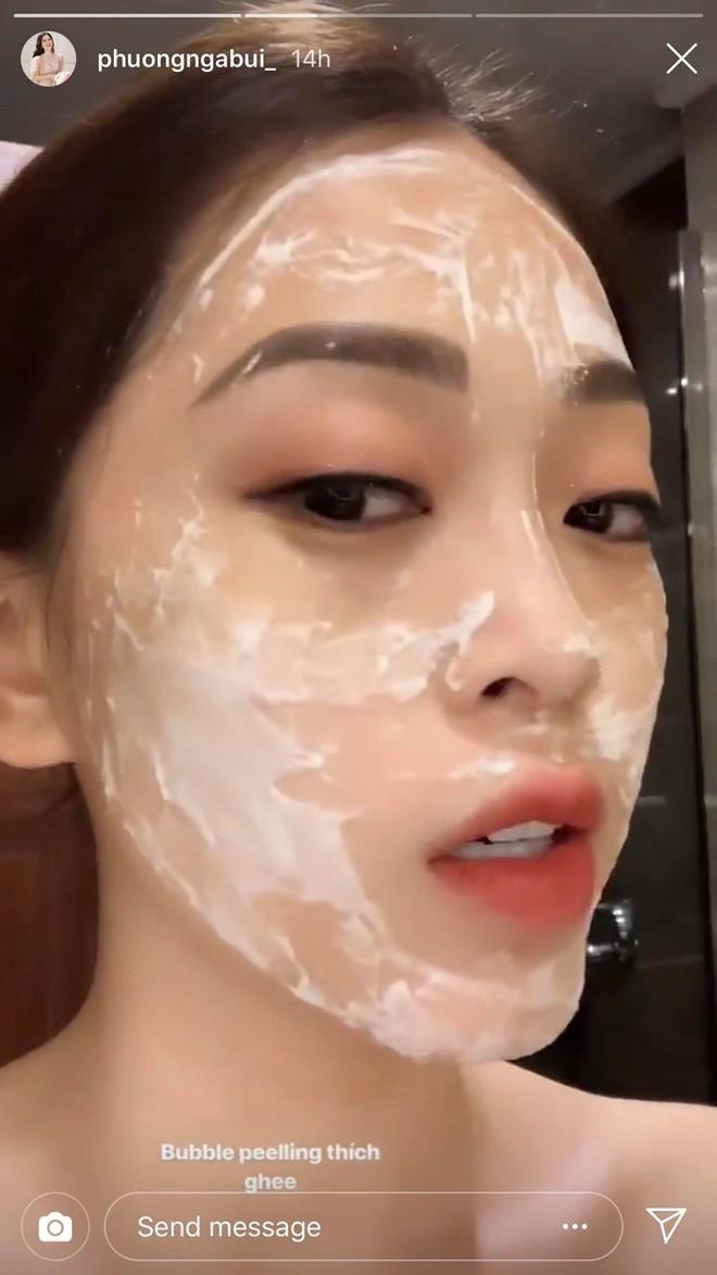 Mất công chia sẻ cách dưỡng da nhưng Á hậu Phương Nga vẫn còn để nguyên lớp make up-3
