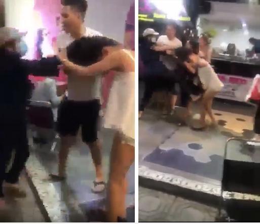 Lại đánh ghen kinh hoàng: Cô gái trẻ bị đập đầu, đạp túi bụi trong quán trà sữa, người can ngăn cũng bị tung cước ngã nhào sấp mặt-3
