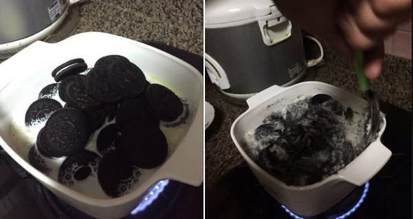 Cái kết bất ngờ khi nấu cơm với bánh Oreo-1