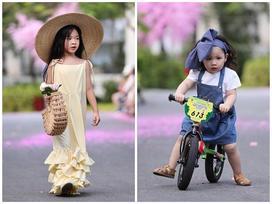 Mẫu nhí 2,5 tuổi 'khuấy đảo' Tuần lễ thời trang trẻ em 2019 khi trình diễn cùng xe đạp