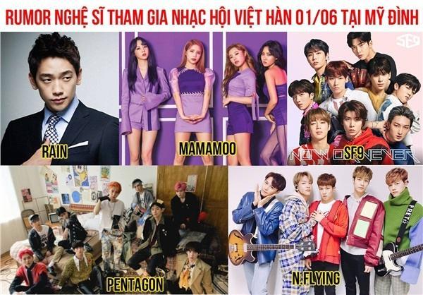 Dân tình náo loạn trước danh sách dự đoán dàn sao Hàn sắp đổ bộ đại nhạc hội ở Việt Nam, có cả Bi Rain và Mamamoo-1