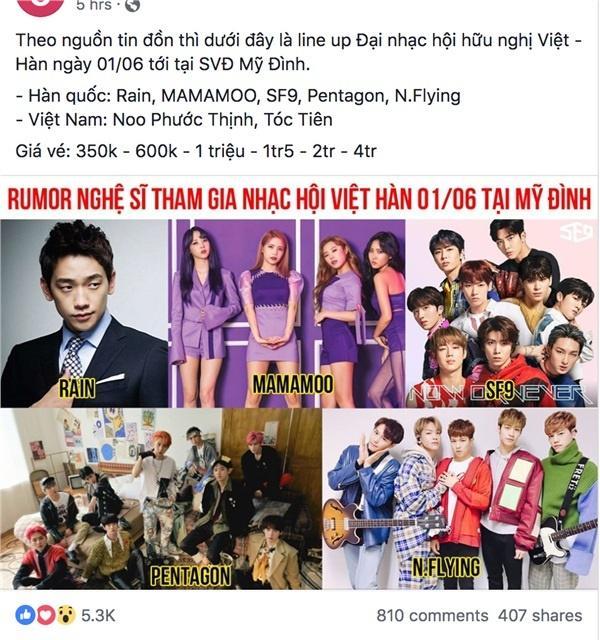 Dân tình náo loạn trước danh sách dự đoán dàn sao Hàn sắp đổ bộ đại nhạc hội ở Việt Nam, có cả Bi Rain và Mamamoo-3