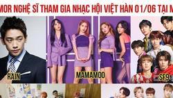 Dân tình 'náo loạn' trước danh sách dự đoán dàn sao Hàn sắp đổ bộ đại nhạc hội ở Việt Nam, có cả Bi Rain và Mamamoo