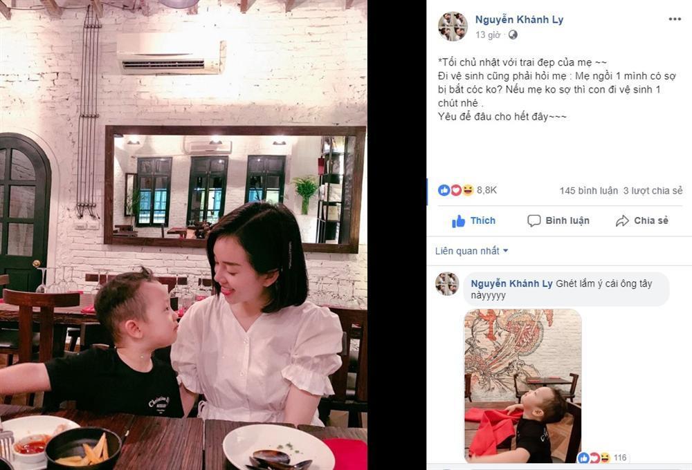 Sợ mẹ bị bắt cóc, con trai 3 tuổi Ly Kute chỉ nói một câu mà khiến single mom mát cả ruột gan-2