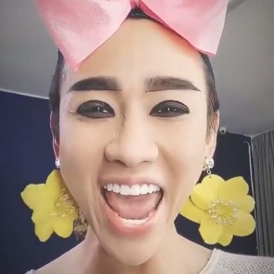 Hải Triều chào buổi sáng với khuôn mặt trang điểm vàng khè khiến fan vừa giật mình vừa buồn cười-6