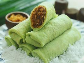 Công thức làm món bánh lá dứa cuộn dừa kiểu Indonesia
