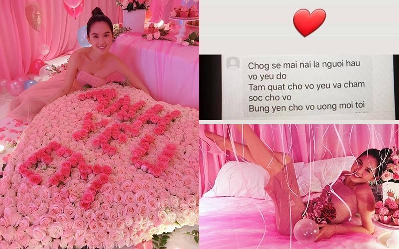 Chiều Ngọc Trinh như bạn trai lớn tuổi: Biến căn phòng mỹ nhân thành pink room để kỷ niệm 2 năm ngày yêu-9