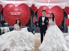 Hủy hôn con trai nghệ sĩ Hương Dung, nữ giảng viên xinh đẹp khoe diện váy cưới chuẩn bị lên xe hoa rồi đây này