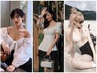 Cùng lăng-xê áo tay bồng khoét ngực sâu hút, Jun Vũ ghi điểm - Khánh Linh lộ thân hình gầy guộc đáng lo