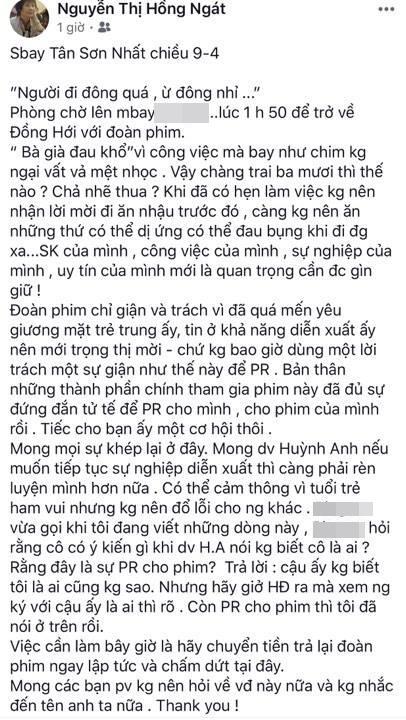 Bị Huỳnh Anh nói không biết mình là ai, biên kịch Hồng Ngát nhắn nhủ: Muốn tiếp tục diễn xuất phải biết rèn luyện-2
