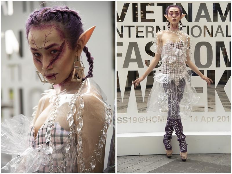 Ngắm những bộ cánh street style ngày đầu Vietnam International Fashion Week mà tưởng Halloween đến sớm nửa năm-3