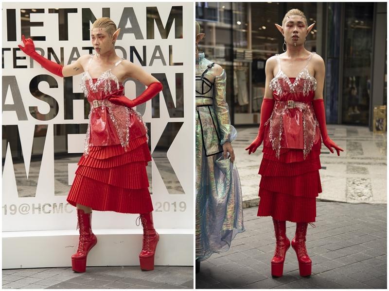 Ngắm những bộ cánh street style ngày đầu Vietnam International Fashion Week mà tưởng Halloween đến sớm nửa năm-5