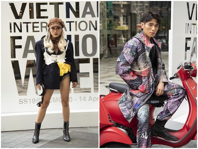 Ngắm những bộ cánh street style ngày đầu Vietnam International Fashion Week mà tưởng Halloween đến sớm nửa năm-17