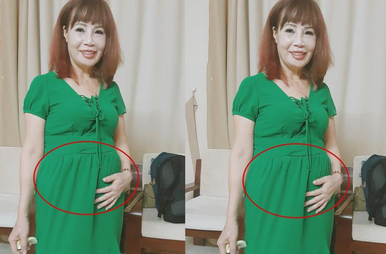 Cô dâu 62 tuổi tiếp tục xuất hiện với bụng bầu vượt mặt, thẳng thắn nói về việc mang thai-1