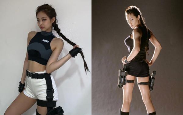 Netizen nghi ngờ Jennie (Black Pink) sao chép phong cách của Lara Croft - Angelina Jolie-3