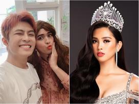 Chỉ nhờ một tấm hình giả gái xuất sắc, dân mạng phát hiện Hồ Quang Hiếu có tướng phu thê với đương kim Hoa hậu Việt Nam