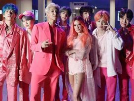 BTS thâu tóm hàng loạt BXH với ca khúc mới hợp tác sao Mỹ