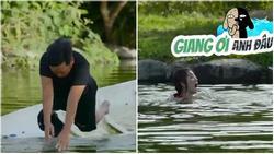Xả thân cứu Thúy Ngân đuối nước, nào ngờ Trường Giang lại bị mỹ nhân nhấn đầu đến chìm nghỉm giữa hồ