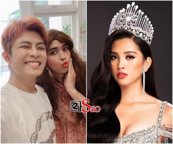 Chỉ nhờ một tấm hình giả gái xuất sắc, dân mạng phát hiện Hồ Quang Hiếu có tướng phu thê với đương kim Hoa hậu Việt Nam-2