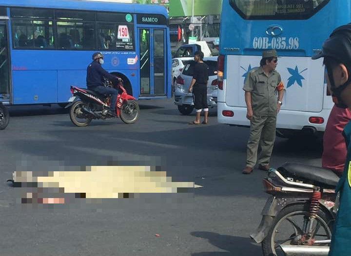 Xe khách cán chết người phụ nữ giữa vòng xoay Sài Gòn-2