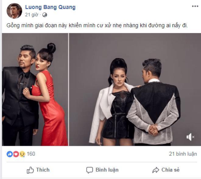 Lương Bằng Quang úp mở chuyện chia tay hotgirl ngực khủng Ngân 98, chặn Facebook và viết status phũ phàng-2