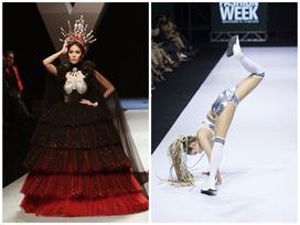 Những lần sao Việt ngã không đứng dậy nổi trên sàn diễn thời trang
