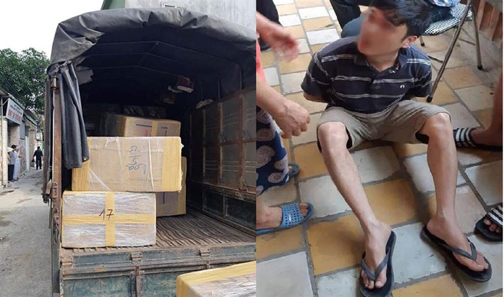 Cảnh sát bắt 4 người cùng xe tải chở 600kg ma túy ở Nghệ An-7