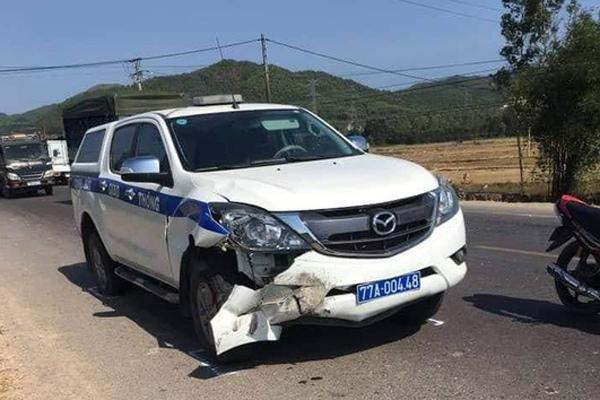 Xe cảnh sát giao thông Bình Định tông chết người đi xe máy-1