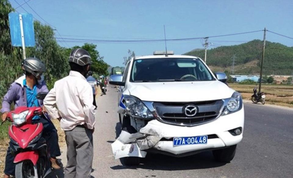 Xe cảnh sát giao thông Bình Định tông chết người đi xe máy-2