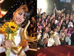 Đông Nhi nghẹn ngào nhận giải Cống Hiến, fans chực chờ ngoài cửa chúc mừng