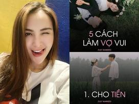 Hoa hậu Diễm Hương gây shock khi kết luận bí quyết giúp các ông chồng giúp vợ 'luôn vui như bồ nhí' chính là Tiền - Tiền và Tiền