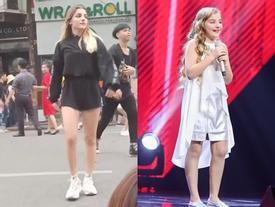 'Thiên thần Nga' The Voice Kids 2016 gây ngỡ ngàng với ngoại hình tuổi 13 khác lạ khi xuất hiện trên phố đi bộ