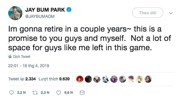 Ông trùm đế chế AOMG - Jay Park đột ngột tuyên bố giải nghệ sớm dù sự nghiệp đang ở kỳ hoàng kim-1