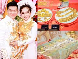 Cô dâu SN 2000 sáng nhất hôm nay: Dạm ngõ nhận tiền mặt gần 1 tỷ, 'khuyến mại' thêm 13 cây vàng kèm nhẫn kim cương
