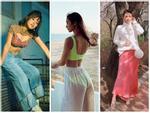 Hà Hồ - Kỳ Duyên diện bikini phô trọn vòng 3 bốc lửa trong khi Angela Phương Trinh kín đáo như nữ sinh-13