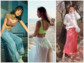 STREET STYLE giới trẻ: Hoàng Yến Chibi khoe ngực 'khủng' - Jun Vũ mát mẻ với bikini xanh nõn chuối