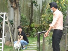 Diệu Nhi làm lố khi dắt cún cưng đang bị bệnh đi dạy học