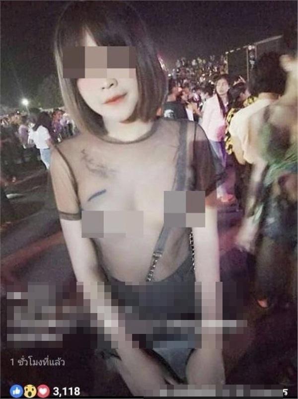 Mặc áo ren không nội y ra đường còn chụp ảnh đăng Facebook, gái xinh bị ném đá không trượt phát nào-1