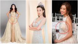 Hoa hậu Đỗ Mỹ Linh liên tiếp để lộ nội y kém duyên khi mặc trang phục xuyên thấu, xẻ bạo