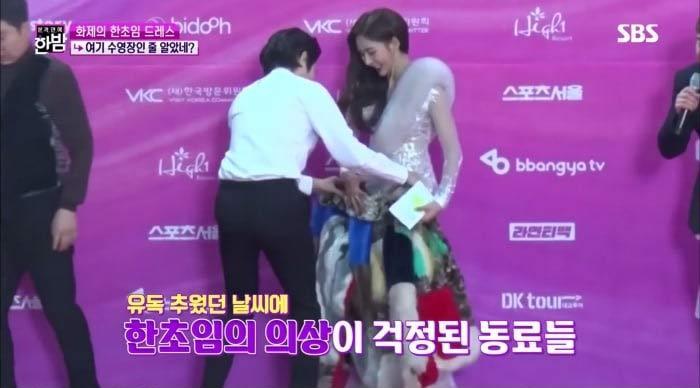 2 bộ váy hở hang nổi tiếng của mỹ nữ Hàn khiến quan khách muốn mang áo che lại-3