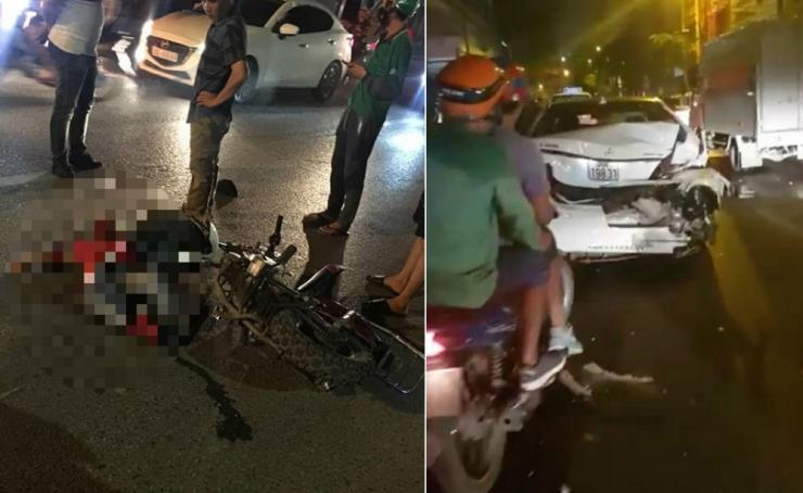 Tai nạn kinh hoàng: Xe điên đâm loạn xạ trong đêm, 1 công nhân môi trường tử vong, người bị thương nằm la liệt-1