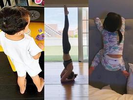 Tăng Thanh Hà tập thể dục lúc... 2 giờ sáng, thì ra đó là chiêu trò 'hại mẹ' của cặp nhóc tỳ đáng yêu
