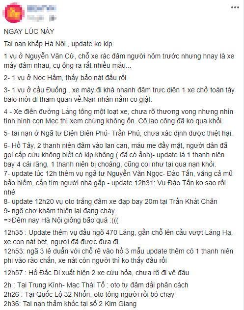 Đêm kinh hoàng tại Hà Nội: Tai nạn xảy ra khắp nơi, đếm sơ có tới hơn 10 vụ nghiêm trọng-1