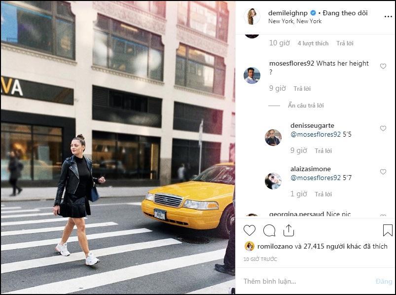 Sải bước trên phố, Hoa hậu Hoàn vũ 2017 khiến ai nấy hết hồn với chiều cao ngang ngửa danh hài Việt Hương-2