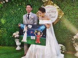 Đỗ Hùng Dũng điển trai trong đám cưới với bạn gái xinh đẹp