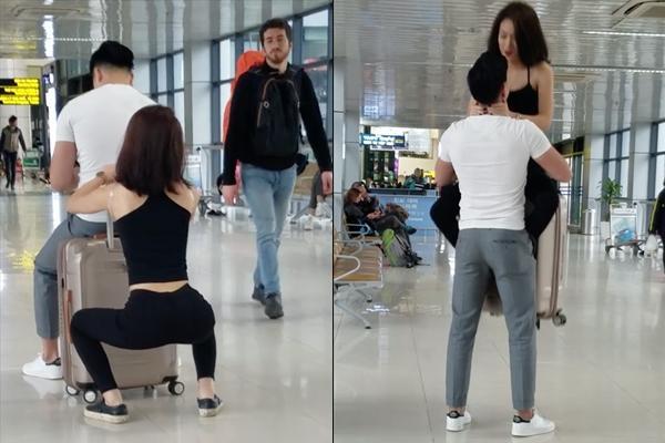 Nữ chính gây tranh cãi trong clip biến sân bay thành phòng tập gym cùng bạn trai: Tôi không làm màu-1