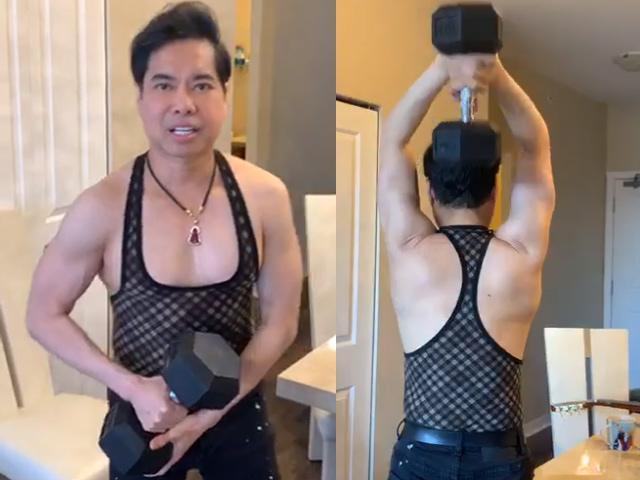 U50 Ngọc Sơn khoe cơ bắp chắc nịch, hé lộ quà khủng nặng 30kg được fan tặng-1